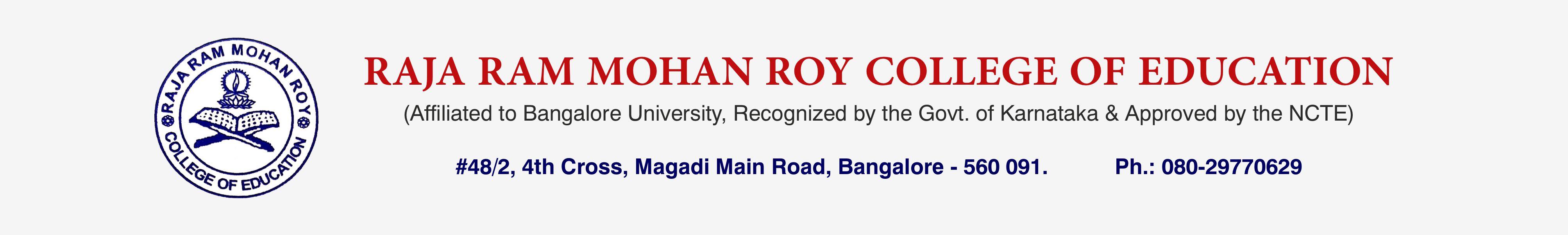 RAJA RAM MOHAN ROY COLLEGE OF EDUCATION