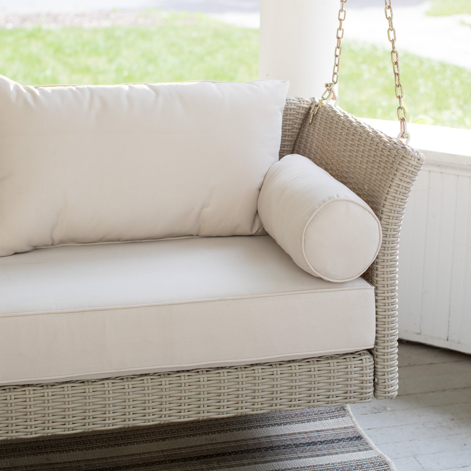 Porch Swing Bed with Cushion