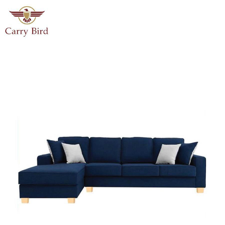 3 SEAT LINEN LIVING ROOM SOFA SET WITH LOUNGER