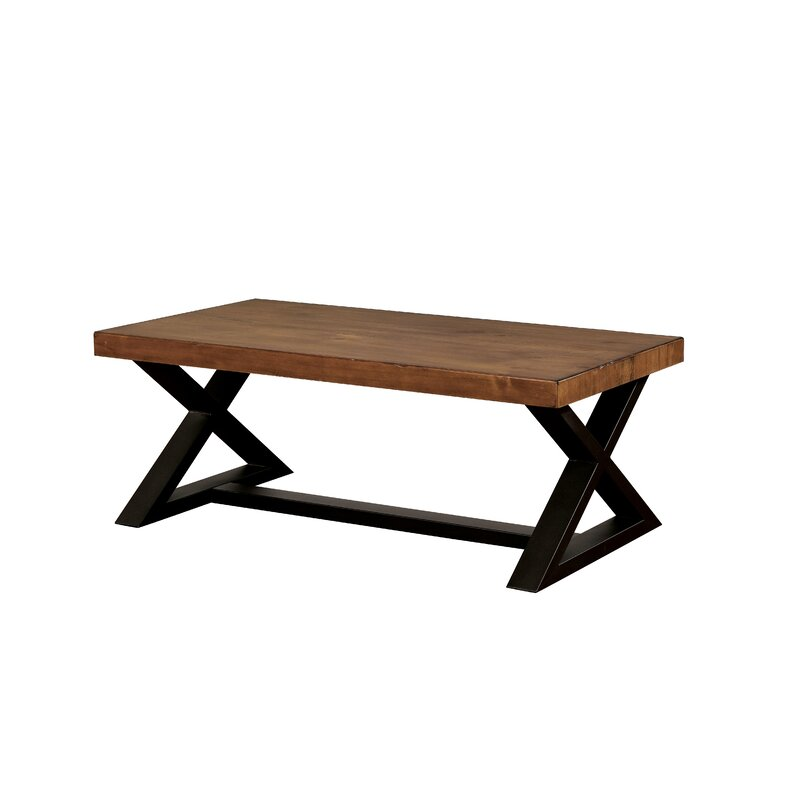 Carry Bird  - Industrial X shape Metal and wooden Table
