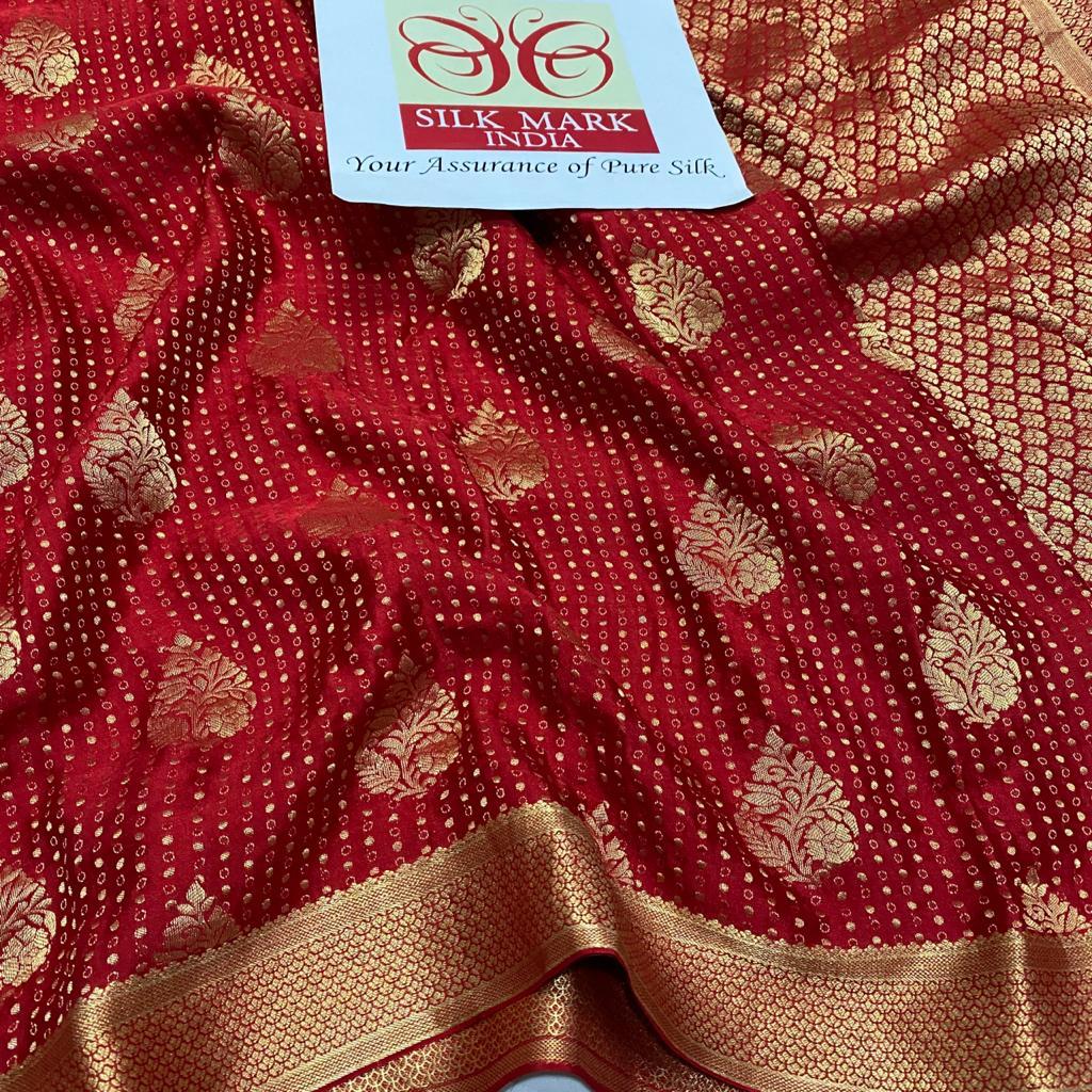 Pure Brocade Mysore Crepe Silk Sarees