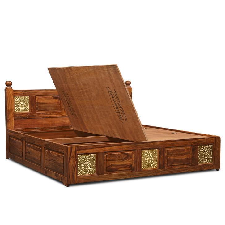Brassico Queen Size Storage Bed