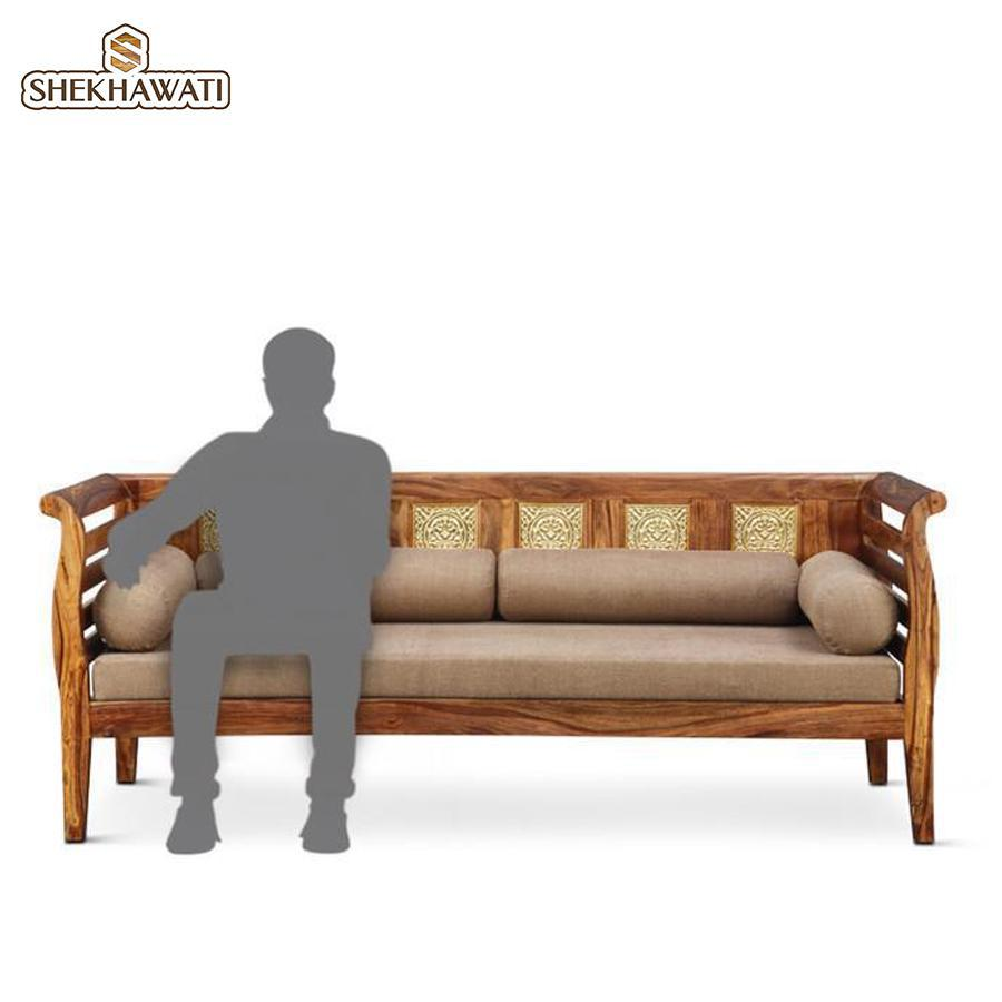 Brassico Three Seater Sofa Walnut