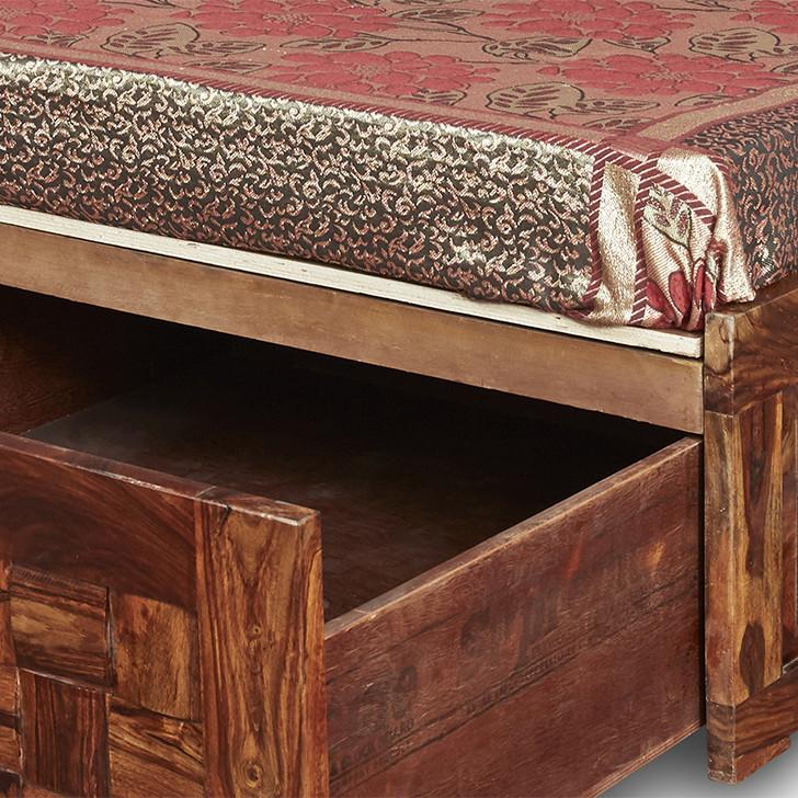 Niwas Queen Size Storage bed
