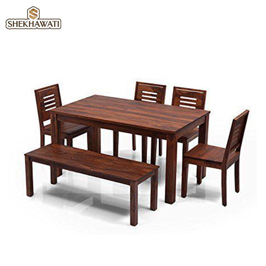 Pearl 6 Seater Dining (4 Chair and 1 Bench)