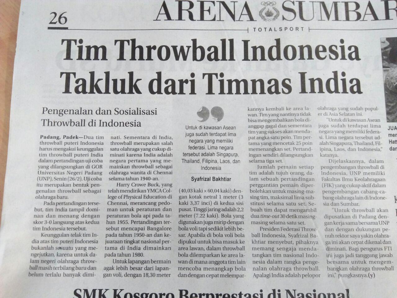 International Throw Ball Federation