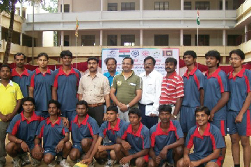 Indo-Srilanka Throwball series 2009