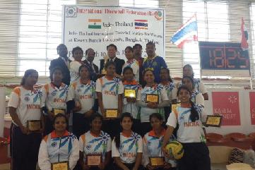 Indo-Thailand Throwball Series-2017