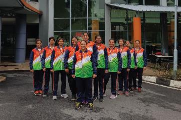 Indo-Malaysia Throwball Matches 2019