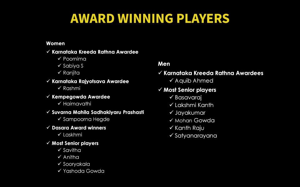Award Winning Players