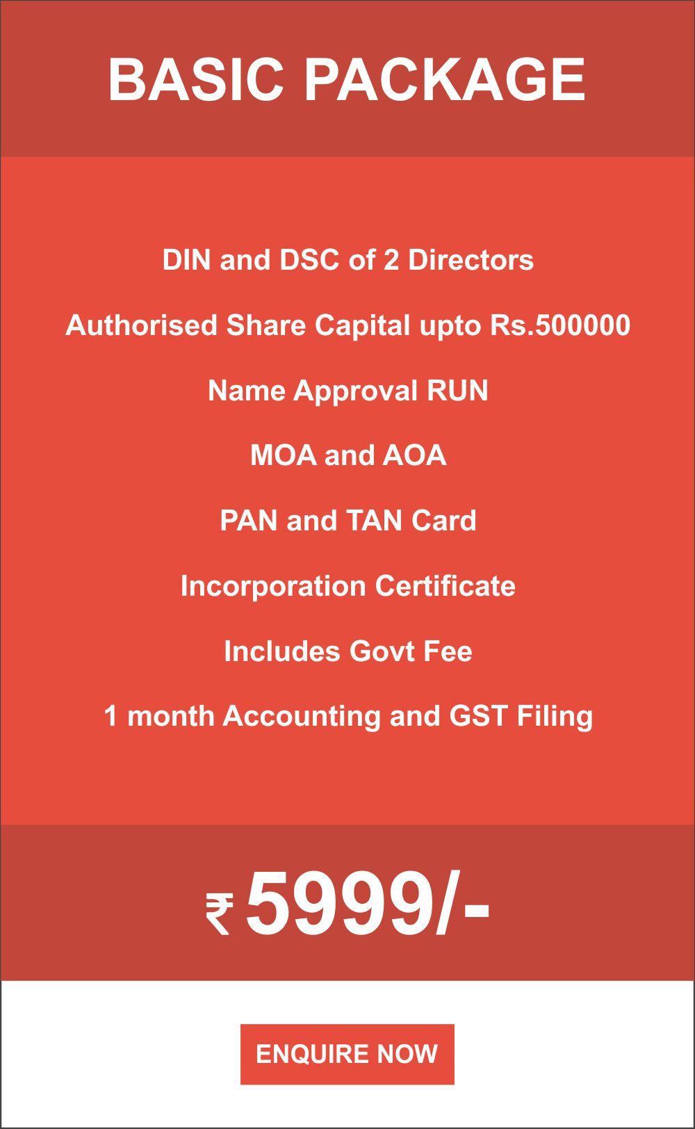 PRIVATE LIMITED COMPANY Basic package