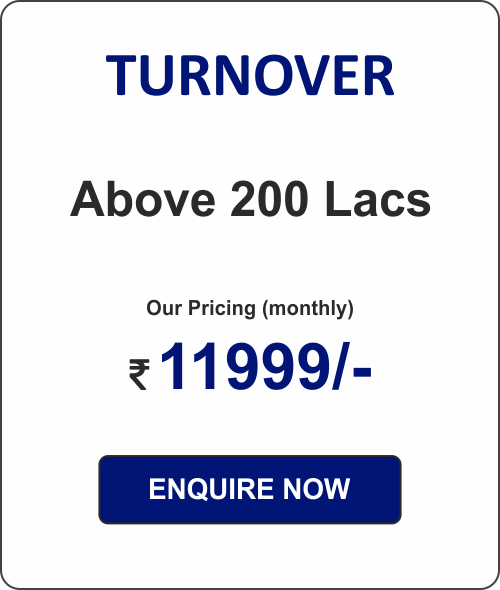 ACCOUNTING PACKAGE - 1  (for Pvt Ltd Co. & LLPs)  Above 200L